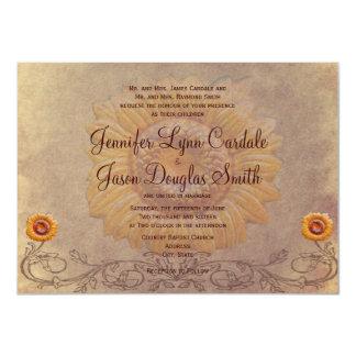 Invitaciones rústicas del boda del girasol del invitacion personalizada