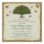 Invitaciones rústicas del boda del monarca y del invitación personalizada