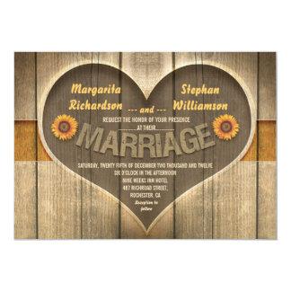 invitaciones rústicas del boda del país comunicado personalizado