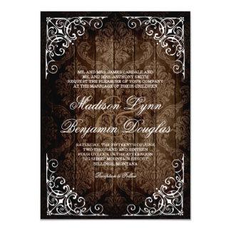 Invitaciones rústicas del boda del país del invitación 11,4 x 15,8 cm