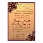 Invitaciones rústicas del boda del pinecone del invitación 12,7 x 17,8 cm