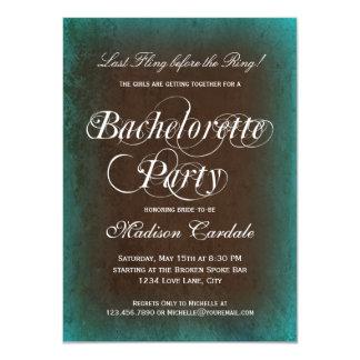 Invitaciones rústicas del fiesta de Bachelorette Invitacion Personalizada