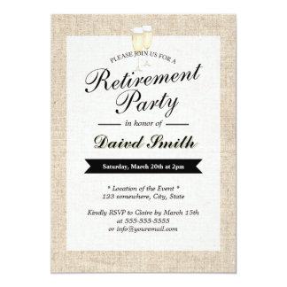 Invitaciones rústicas del fiesta de retiro de la invitacion personalizada