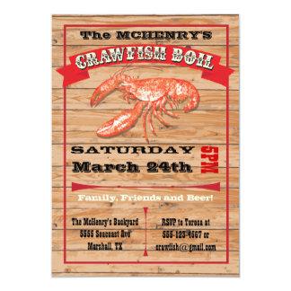 Invitaciones rústicas del poster del fiesta de la comunicados personalizados