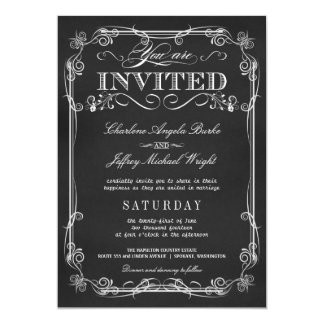 Invitaciones rústicas elegantes del boda de la invitación 12,7 x 17,8 cm