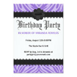 Invitaciones salvajes púrpuras de la fiesta de invitación 12,7 x 17,8 cm