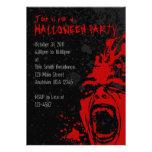 Invitaciones sangrientas de Halloween del grito A7