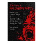 Invitaciones sangrientas de Halloween del grito A7 Comunicado