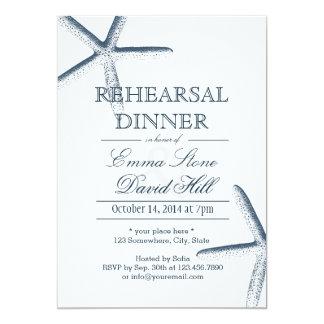 """Invitaciones simples de la cena del ensayo de las invitación 5"""" x 7"""""""