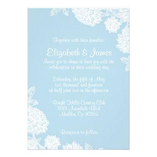 Invitaciones simples del boda de la flor