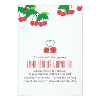 Invitaciones simples del boda del corazón de la comunicados