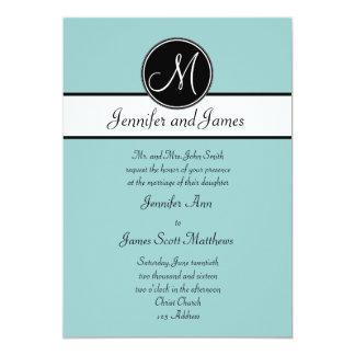 Invitaciones simples del boda del monograma del invitación 12,7 x 17,8 cm