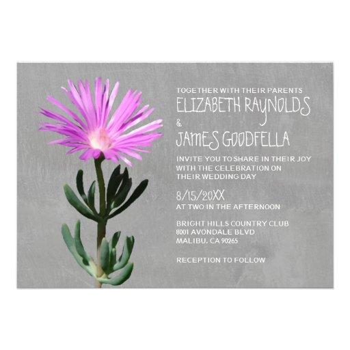 Invitaciones suculentas del boda de la planta anuncio