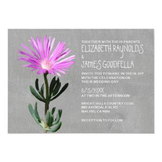Invitaciones suculentas del boda de la planta invitación 12,7 x 17,8 cm