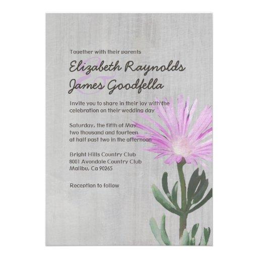 Invitaciones suculentas del boda de la planta del  anuncios