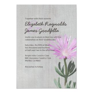 Invitaciones suculentas del boda de la planta del invitación 12,7 x 17,8 cm
