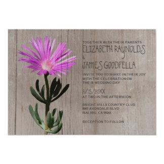 Invitaciones suculentas rústicas del boda de la invitación 12,7 x 17,8 cm