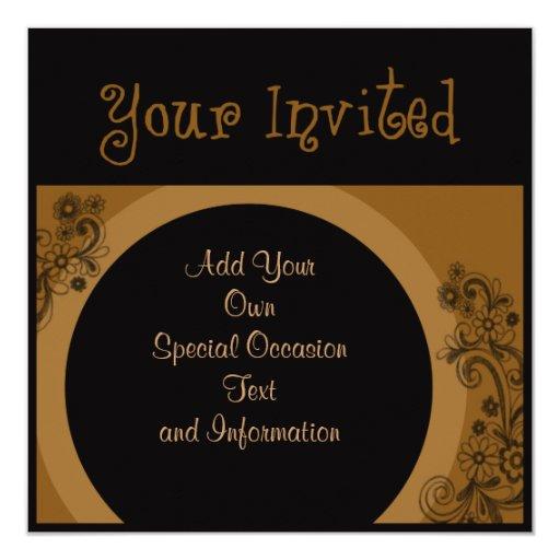 """Invitaciones """"sus del fiesta invitados """" comunicados personalizados"""