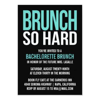 """Invitaciones tan duras del brunch de Bachelorette Invitación 5"""" X 7"""""""