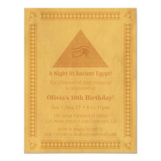 """Invitaciones temáticas egipcias antiguas de la invitación 4.25"""" x 5.5"""""""