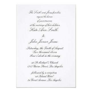 """Invitaciones terrosas grises rústicas del boda invitación 5"""" x 7"""""""