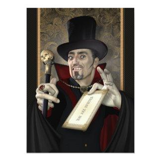 Invitaciones tradicionales del fiesta del vampiro invitacion personal