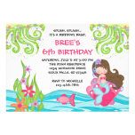 Invitaciones triguenas del cumpleaños de la sirena invitaciones personales