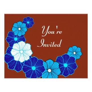 Invitaciones tropicales de la flor comunicados personales