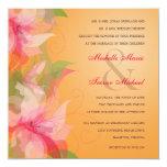 Invitaciones tropicales de la mandarina y del boda invitaciones personalizada
