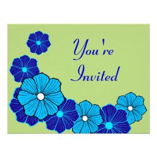 Invitaciones tropicales de Luau Comunicado Personalizado