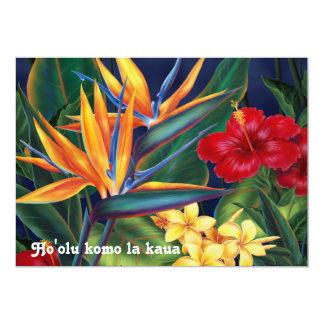 """Invitaciones tropicales de Luau del paraíso Invitación 5"""" X 7"""""""
