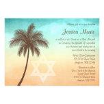 Invitaciones tropicales de Mitzvah del palo de la