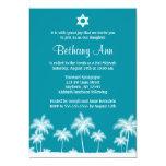 Invitaciones tropicales de Mitzvah del palo del Invitación Personalizada