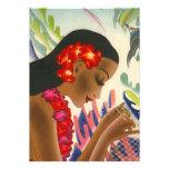 Invitaciones tropicales de Tiki del fiesta de Luau Comunicado