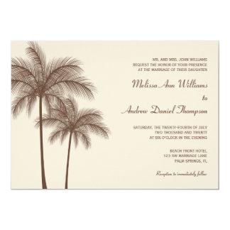 """Invitaciones tropicales del boda de la palmera de invitación 5"""" x 7"""""""