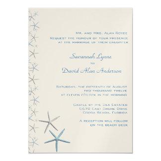 Invitaciones tropicales del boda de las estrellas invitación 12,7 x 17,8 cm