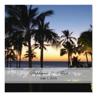 Invitaciones tropicales del boda del destino invitación 13,3 cm x 13,3cm
