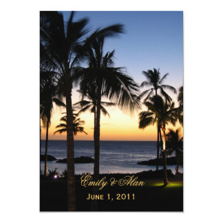 Invitaciones tropicales del boda del destino invitaciones personales