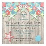 Invitaciones tropicales del boda del Seashell Comunicados