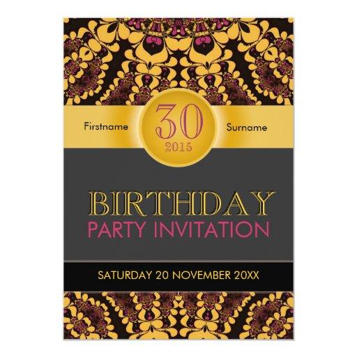 Invitaciones tropicales del cumpleaños de la invitación 12,7 x 17,8 cm