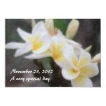 Invitaciones tropicales hawaianas del Plumeria Comunicados Personales