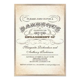 """invitaciones únicas de la barbacoa de la invitación 5"""" x 7"""""""