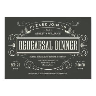 """Invitaciones únicas de la cena del ensayo del invitación 5"""" x 7"""""""
