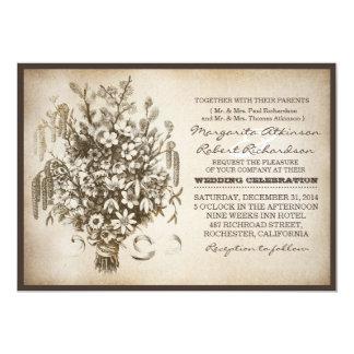 """invitaciones únicas del boda de la tipografía del invitación 5"""" x 7"""""""