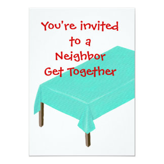 """Invitaciones vecinas de la reunión, personalizar invitación 5"""" x 7"""""""