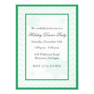 Invitaciones verdes de la celebración de días fest comunicado