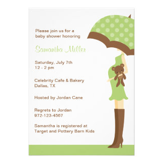 Invitaciones verdes de la fiesta de bienvenida al