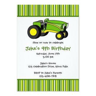 Invitaciones verdes de la fiesta de cumpleaños del anuncio