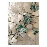 Invitaciones verdes de las mariposas invitación 12,7 x 17,8 cm