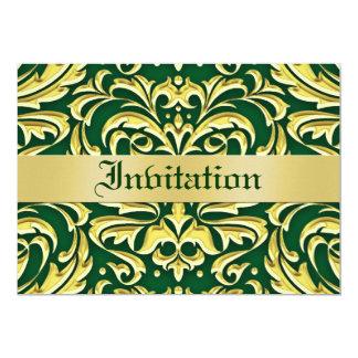 """Invitaciones verdes del día de fiesta del metal invitación 5"""" x 7"""""""